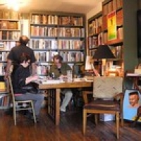 """Darius James and Kurt Thometz at Jumel Terrace Books. 05.11 • <a style=""""font-size:0.8em;"""" href=""""http://www.flickr.com/photos/78628755@N03/7039820267/"""" target=""""_blank"""">View on Flickr</a>"""